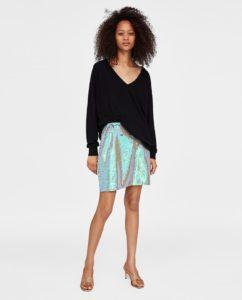 Блестящая юбка от Zara