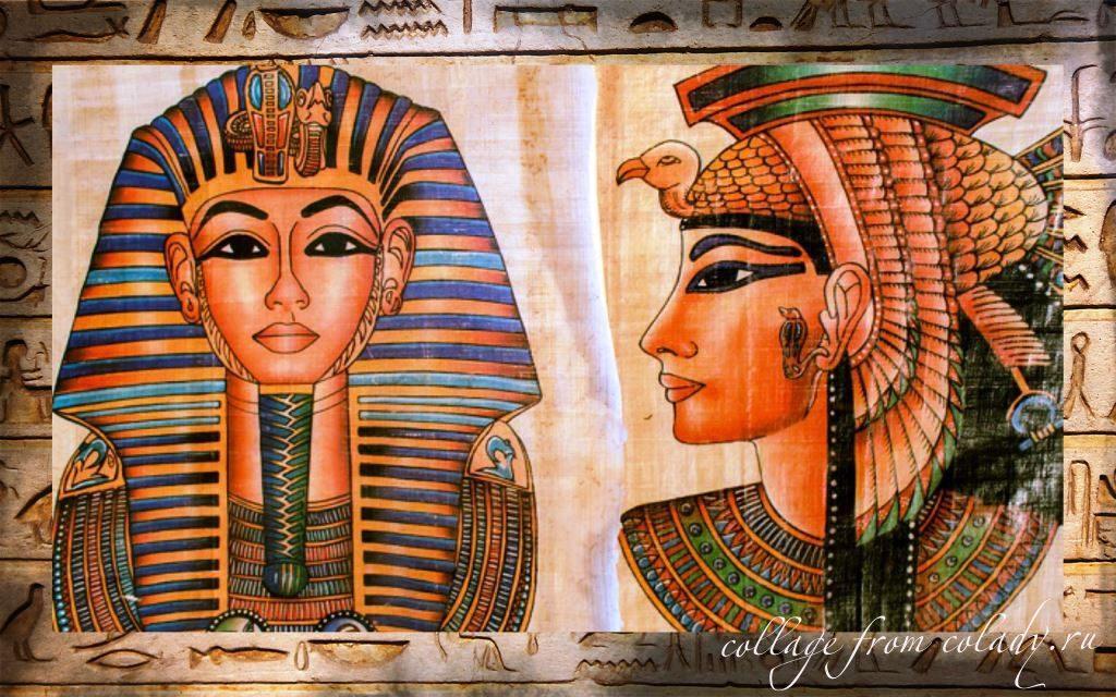 Рисунок с одной из фресок с изображением Клеопатры, написанный уже после её смерти