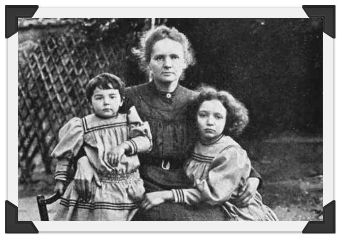 Мария Склодовская-Кюри с дочерьми