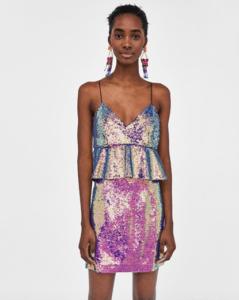Переливающееся платье