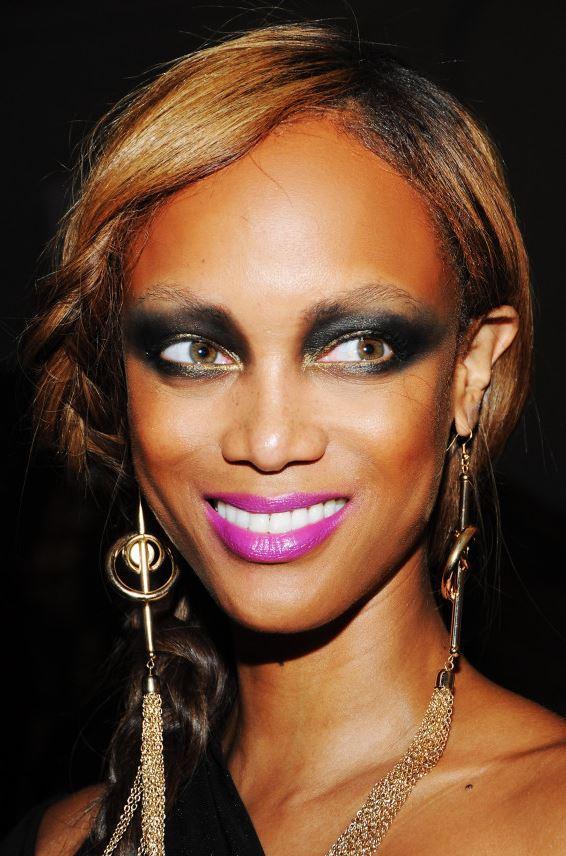 Тайра Бэнкс: грубый макияж глаз