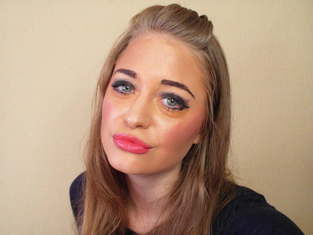 Неухоженный макияж