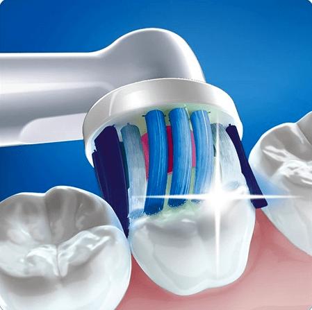 Очистка зубов электрической зубной щеткой