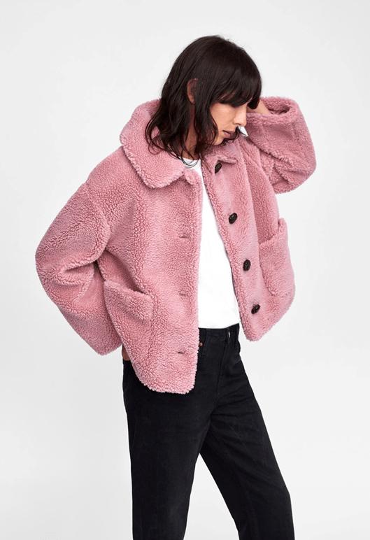 Розовая куртка из Zara