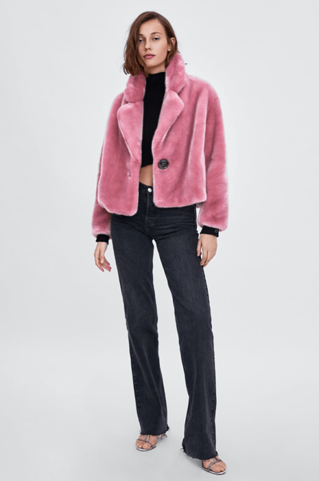 Розовый жакет из Zara