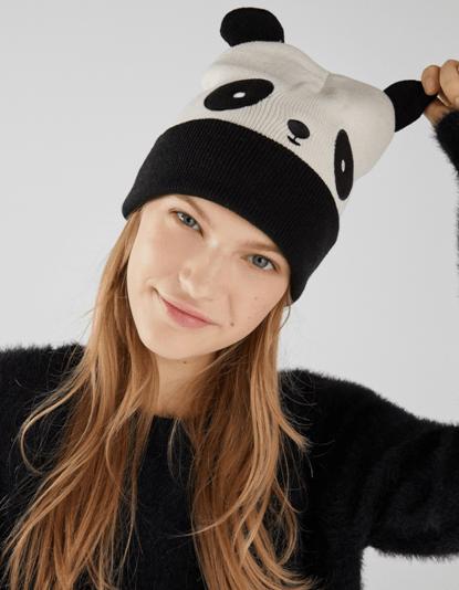 Шапка в виде панды