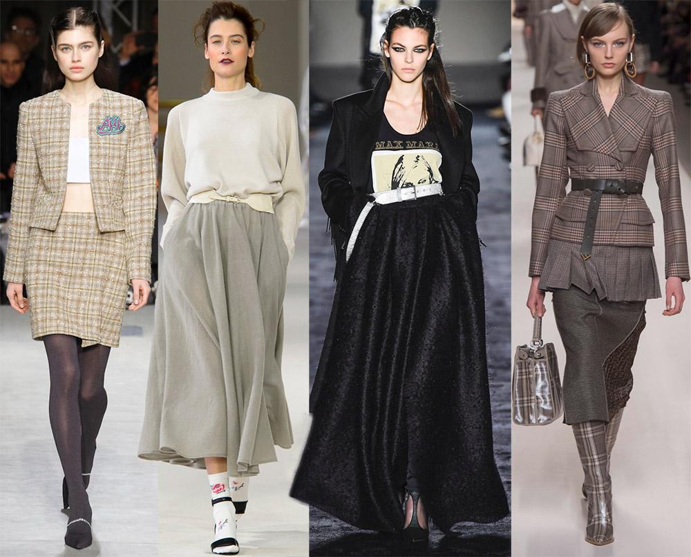 Длинные и короткие юбки на зиму