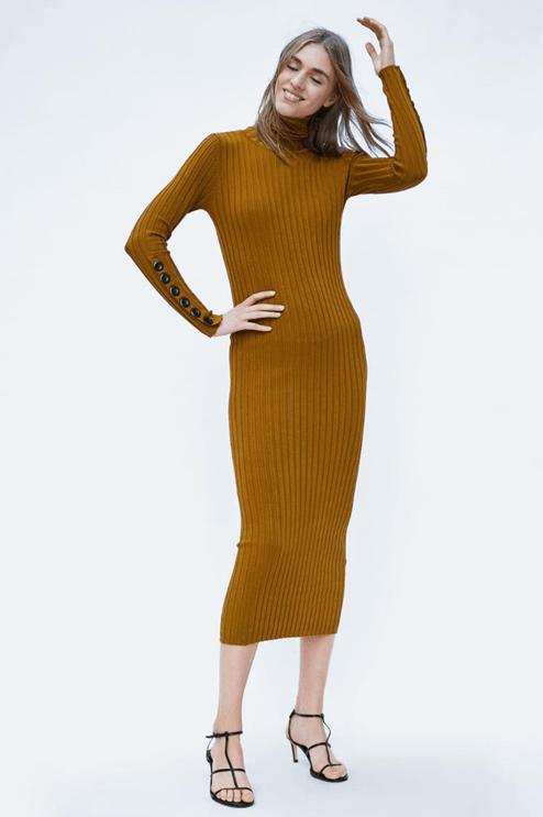 Платье бронзового цвета из Zara