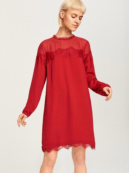 Платье с кружевом из Reserved