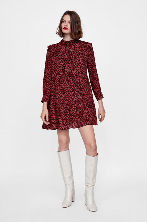 Платье с леопардовым рисунком из Zara