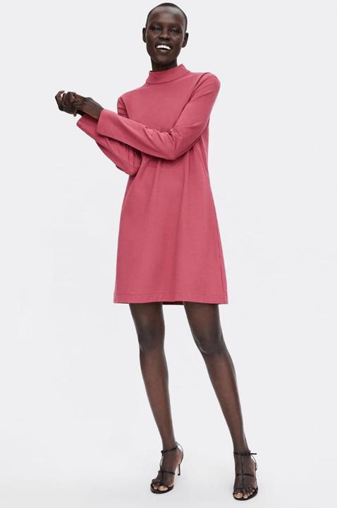 Платье сочного малинового цвета