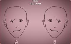 Тест на восприятие: какое лицо выглядит более счастливым?