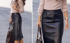 С чем надеть кожаную юбку-карандаш — профессиональные советы и модные лайфхаки