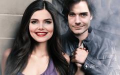 Русские актёры в роли Елены и Деймона из «Дневников Вампира» — фотоэксперимент