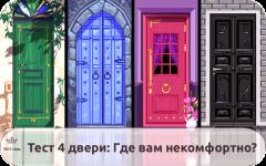 Тест «4 двери» – где вам некомфортно?