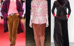 Как носить и с чем сочетать одежду из вельвета?