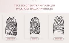 Точный психологический тест по отпечаткам пальца – узнайте своё призвание!