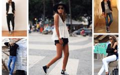 С чем и как актуально сегодня носить кеды?