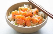 Риса с лососем