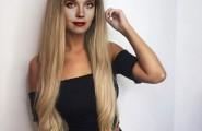 Ирина Алферова с длинными волосами