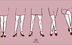 TEST- time! Что о вас расскажет любимая поза ног? Мы раскроем вашу подноготную!