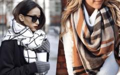 Как модно и красиво завязать шарф на пальто в этом году?
