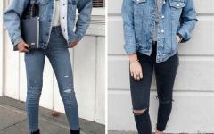 С чем носить джинсовую куртку с мехом?