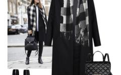 Будь модной! Подборка аксессуаров к классическому черному пальто