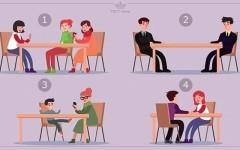 TEST-time! За какой стол вы бы не сели? Мы объясним, почему вы сделали такой выбор