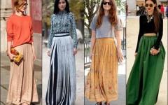 С чем носить длинную юбку – стильные образы с юбками в пол от стилистов и модных блоггеров