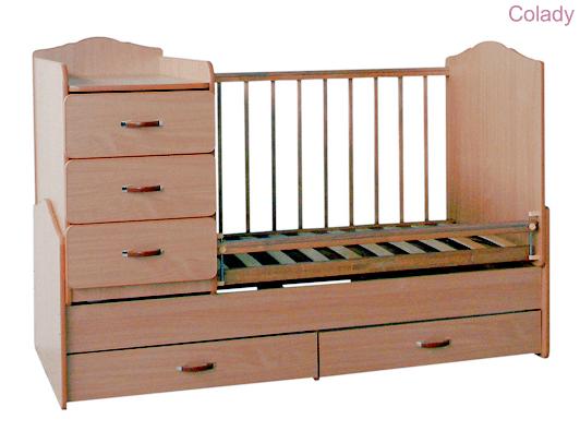 Кроватка-трансформер компании СКВ-7