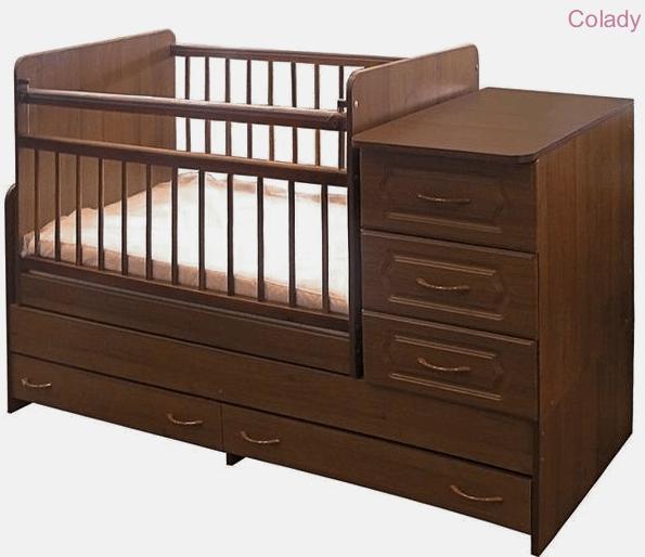 Кроватка-трансформер «Алмаз-Мебель» КТ-2
