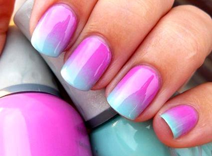 Маникюр на коротких ногтях - градиент