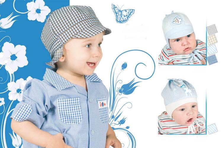 Летние шапочки для мальчиков