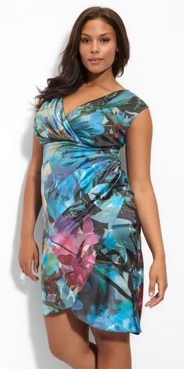 Модные летние платья для полных девушек 2013