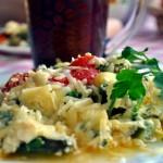 Низкокалорийные блюда - Грибной омлет со шпинатом