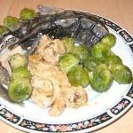 Диетические блюда - осетрина на пару