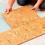 Напольное пробковое покрытие для кухни