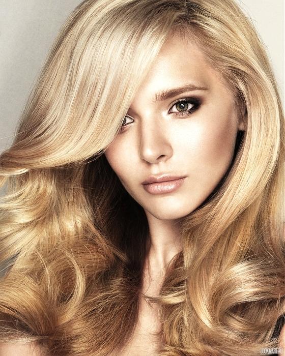 Модные волосы 2013 - цвет шампанское