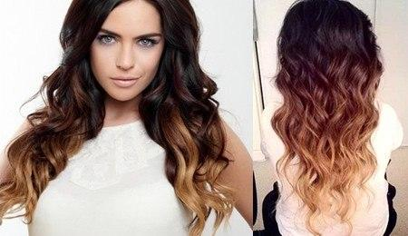 Модные волосы 2013 - окрашивание омбре