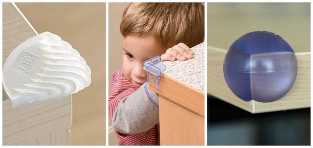 Безопасность детей дома - защитные уголки и накладки для мебели