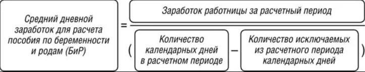 Формула расчета декретных в 2019 году