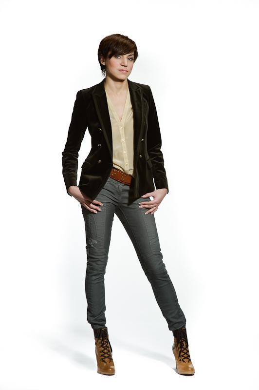 Ботильоны с пиджаком