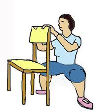 1-ый триместр - упражнения со стулом