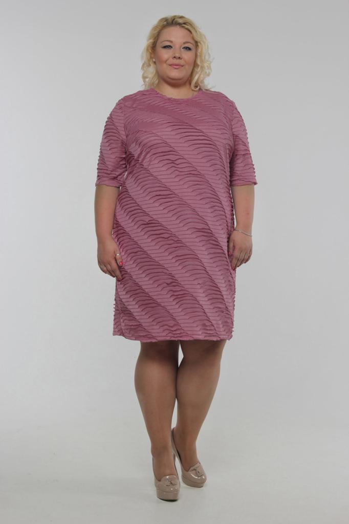 Платье футляр фактурное с рукавами до локтя LacyWear