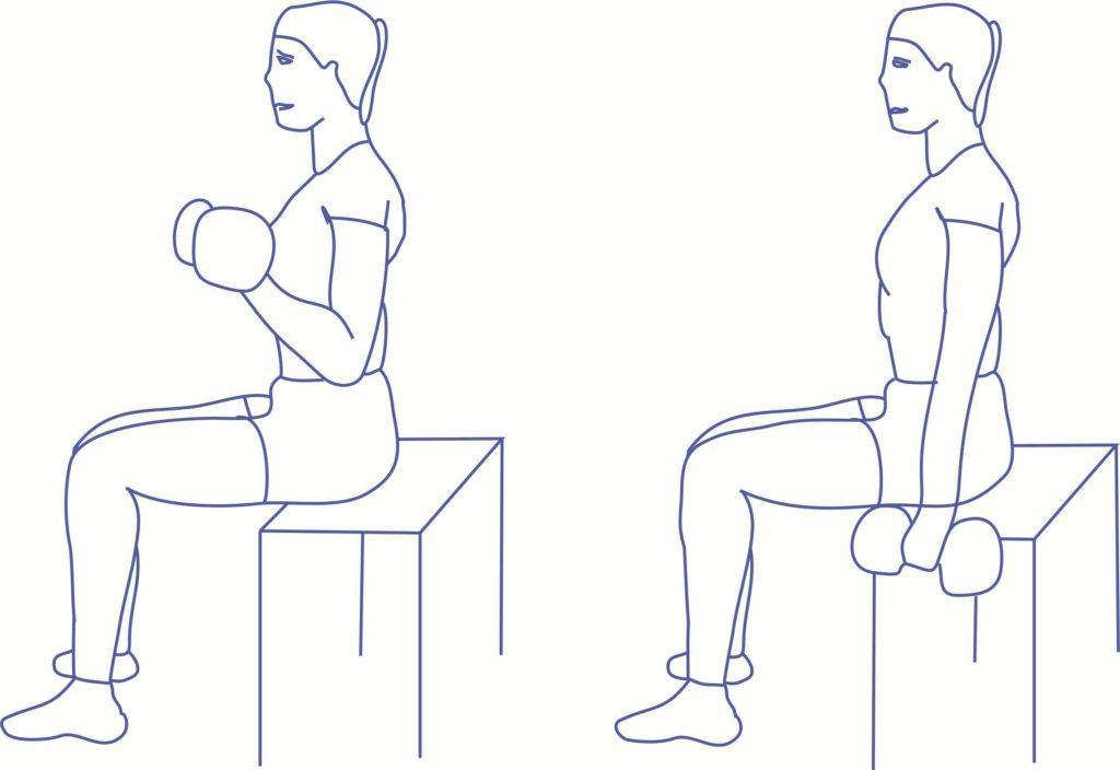 Упражнение 2 от дряблости рук для бицепса