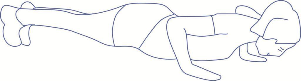 Упражнение 5 от дряблости рук для трицепса