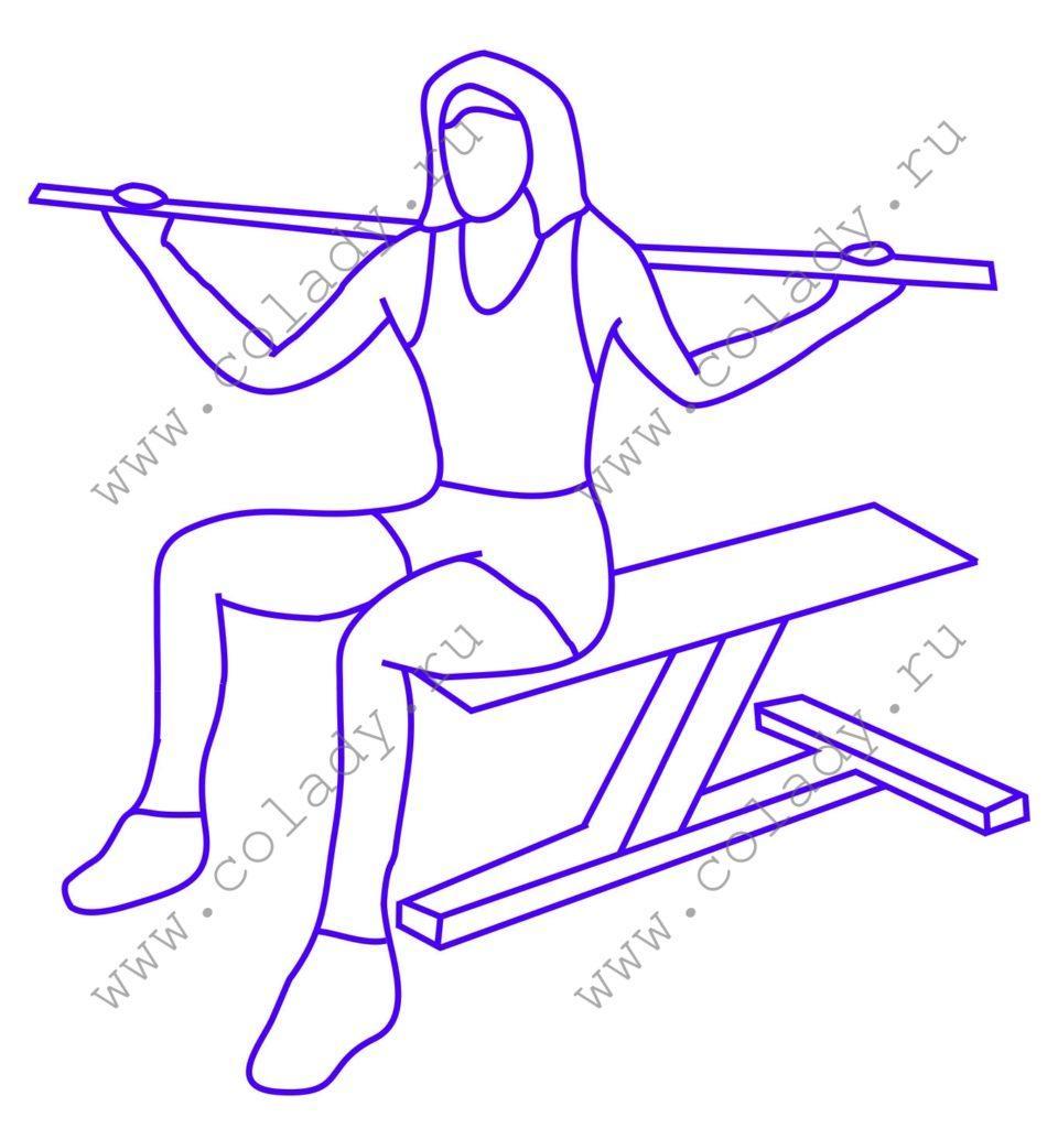 Упражнение 10 против жировых складок на боках