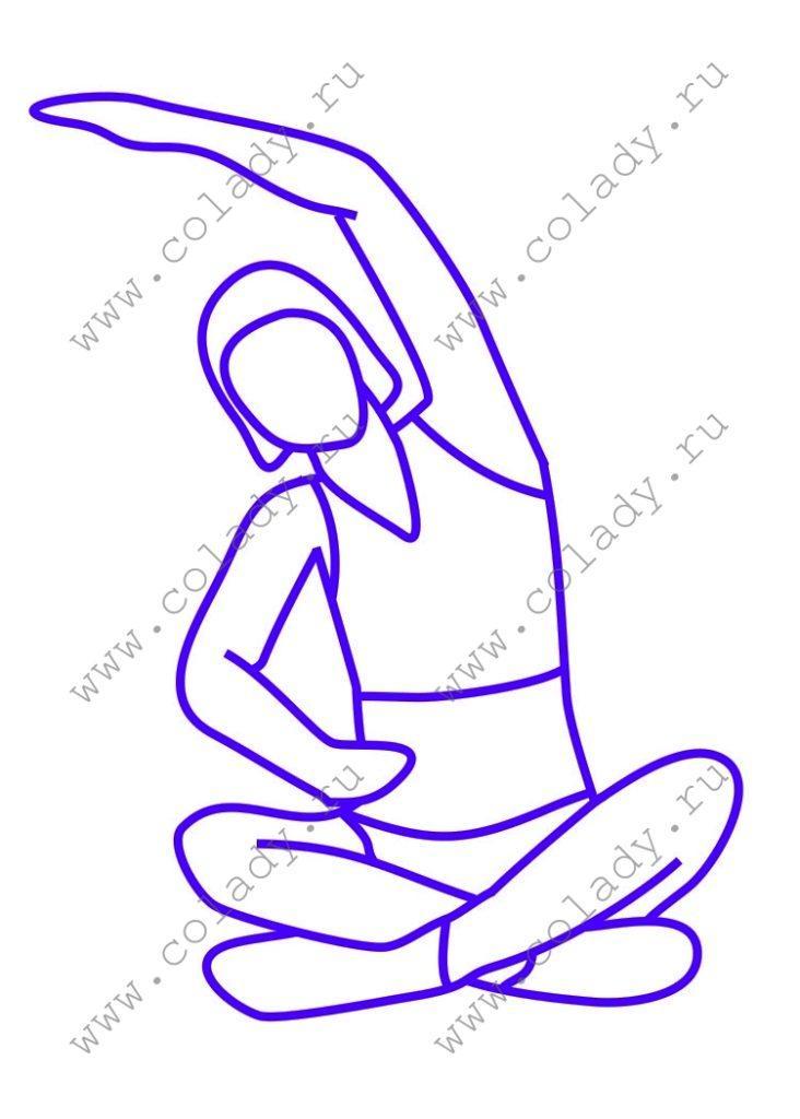 Упражнение 5 против жировых складок на боках