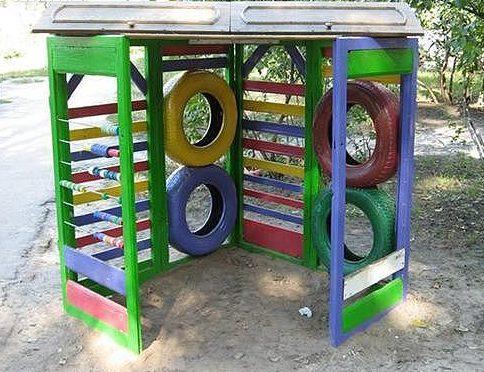 Как построить спортивный детский уголок на даче